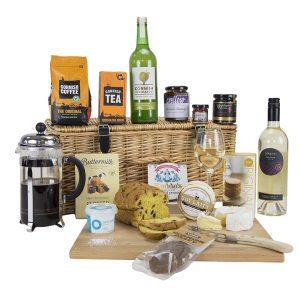 Luxury Cornish Hamper with White Wine