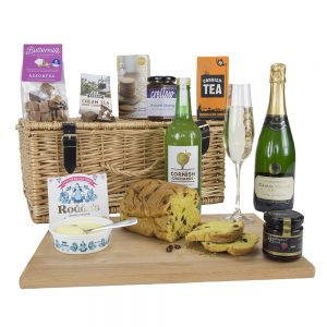 Traditional Cornish Hamper with Camel Valley Brut