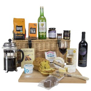 Luxury Cornish Hamper with Red Wine